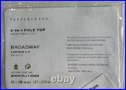 Pottery Barn Broadway Rod Pocket Curtain, Set of 2, 50w X 108l, Ivory