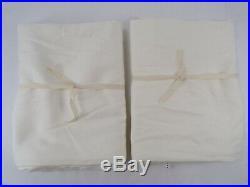 Pottery Barn Broadway Rod Pocket Drapes Panels Curtains 50x 96 Ivory S/2 #8358