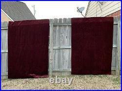 Pottery Barn Burgundy Velvet Curtain Panels Drapes 48 x 96 Set of 2 Panels