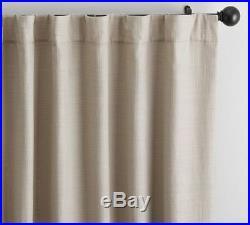 Pottery Barn COTTON BASKETWEAVE DRAPES-SET OF 2-FLAX-50 X 96-NIP