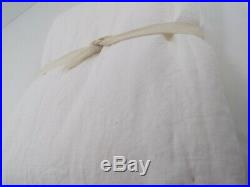 Pottery Barn Classic Belgian Flax Linen Curtain Cotton Lining 84 White #7660
