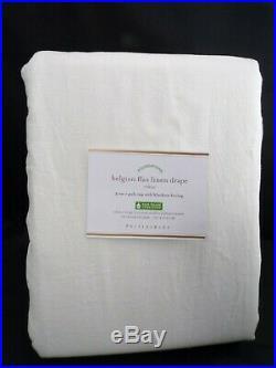 Pottery Barn Classic Belgian Flax Linen Drape Curtain Blackout Ivory 108 #4698