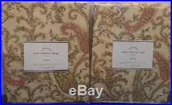 Pottery Barn Colette Paisley Drapes Set/2 Neutral Pole Top 50 x 108 New