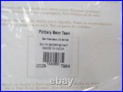 Pottery Barn Cotton Linen Blackout Drape Panel Curtain 96 White S/2 #8726