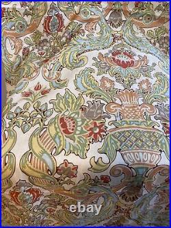 Pottery Barn Curtain Kravet Lutron Vintage Floral 3 Drapes 50x96 Linen Lined