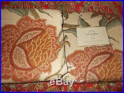 Pottery Barn Cynthia Palampore Drapes, Set Of 2, 84 Inch, New