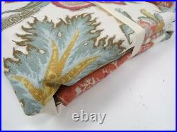 Pottery Barn Cynthia Palampore Floral Curtain Drape Cotton Line 50x84 S/2 #9694