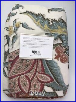 Pottery Barn Cynthia Palampore Pole Pocket Curtain Linen Cotton Drape 50 x 96
