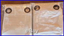 Pottery Barn DUPIONI SILK GROMMET DRAPE PANELS Set/2 Ivory 2 Sets Available 96