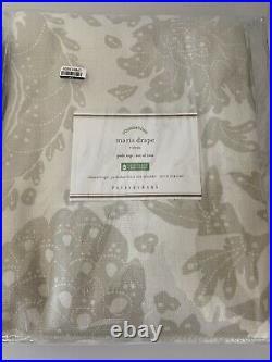 Pottery Barn Drape Set Maris Rod Pocket set of 2 50 x 108 Flax Print Cotton