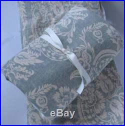 Pottery Barn Drapes Alessandra Porcelain Blue Cream Floral Paisley 50 x 96