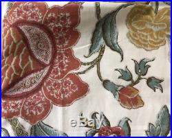Pottery Barn Drapes Cynthia Palampore Floral 50 x 108 1 Pair Curtains Lined