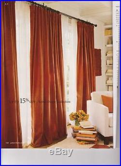 Pottery Barn Drapes Maple Leaf Velvet Panels 4 available