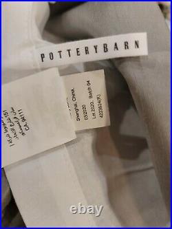 Pottery Barn Duoponi Silk Rod Pocket Curtain, 50w x 84l, Platinum Gray