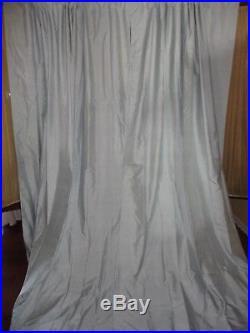 Pottery Barn Dupioni Porcelain Blue (pair) Lined Drapery Curtain Panels 50 X 84