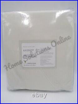 Pottery Barn Dupioni Silk Blackout Curtain Drape Panel 50 x 108 Ivory #7392X
