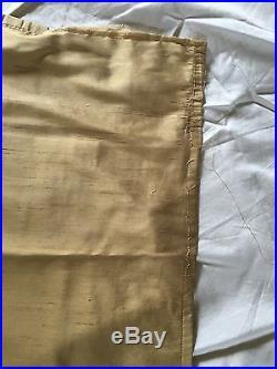 Pottery Barn Dupioni Silk Curtains 104 width X 103 length 2 Panels Wheat
