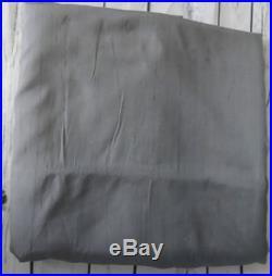 Pottery Barn Dupioni Silk Drape Flagstone Gray 50x96 Blackout Lining