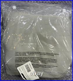 Pottery Barn Dupioni Silk Rod Pocket Blackout Curtain, 104 x 108, Platinum Gray