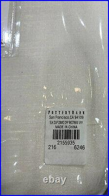 Pottery Barn Dupioni Silk Rod Pocket Blackout Curtain, 104w x 96l, Ivory