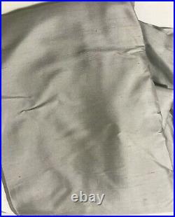Pottery Barn Dupioni Silk Rod Pocket Blackout Curtain 50 x 84 Platinum Gray