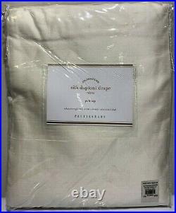 Pottery Barn Dupioni Silk Rod Pocket Curtain, 104 x 84, Ivory, Free Shipping