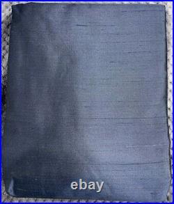 Pottery Barn Dupioni Silk Rod Pocket Curtain, 104 x 96, Indigo Blue