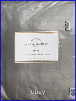 Pottery Barn Dupioni Silk Rod Pocket Curtain 124 Flagstone