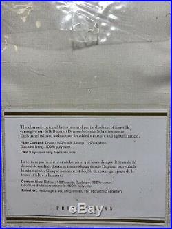 Pottery Barn Dupioni Silk Rod Pocket Pole Top Blackout Curtain, 50 x 96, Ivory