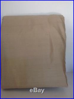 Pottery Barn Dupioni Silk Set Of 2 Pole Top Drapes 104x96 Parchment
