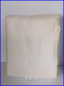 Pottery Barn Dupioni Silk Set Of 2 Pole Top Drapes 50x124 Ivory Blackout Lining