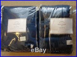 Pottery Barn EMERY LINEN COTTON DRAPESPOLE POCKET-NAVY-100 X 108-NIP$600