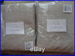 Pottery Barn EMERY LINEN COTTON GROMMET DRAPES50 X 84-OATMEAL-BLACKOUT-NIP