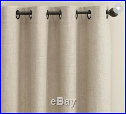 Pottery Barn EMERY LINEN GROMMET Curtain 50 X 108 Set/2 Panels Oatmeal NWT