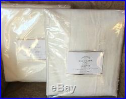 Pottery Barn EMERY LINEN Pole Pocket Curtain 50 X 96 Set of TwoIvory NWT