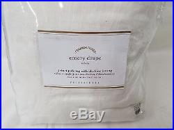 Pottery Barn EMERY doublewide Drape 100x96 white blackout lined