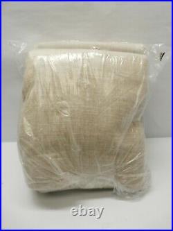 Pottery Barn Emery 96 Linen/Cotton Rod Pocket Blackout Curtain Oatmeal