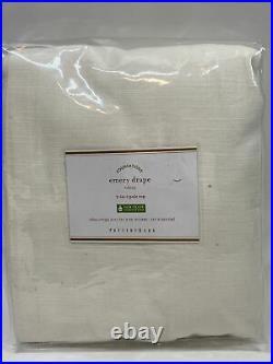 Pottery Barn Emery Cotton/Linen Rod Pocket Curtain, 50 x 96, White