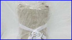 Pottery Barn Emery Doublewide Linen / Cotton Drape Curtain Panel 100x108 Oatmeal