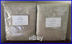 Pottery Barn Emery Drape Curtain (Set of 2) 50 x 108 Oatmeal