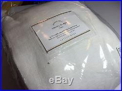 Pottery Barn Emery Drape Doublewide Blackout 100x96 white NEW