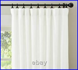 Pottery Barn Emery Drape Linen Cotton Rideau Curtain 100 84 Blackout Lining
