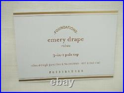 Pottery Barn Emery Drapes Panels Curtains Cotton Lining 50 X 96 #9322