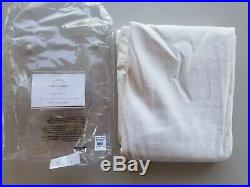 Pottery Barn Emery Drapes Panels Curtains Cotton Lining White 50 X 96 #6221c