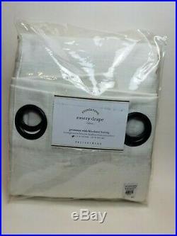 Pottery Barn Emery Grommet Blackout Lining Panel Drape Curtain White 96 #7322
