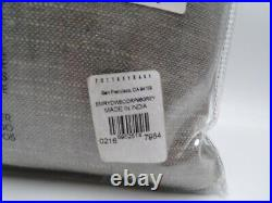 Pottery Barn Emery Linen Blackout Curtain Drape Gray 100 x 96 Set of 2 #7931B