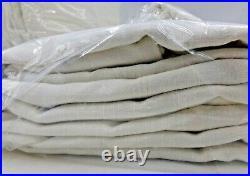 Pottery Barn Emery Linen Blackout Curtain Drape Panel 50 x 96 Ivory S/4 #7460B