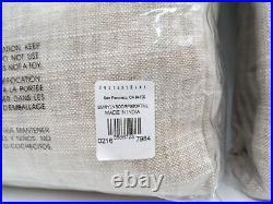 Pottery Barn Emery Linen Blackout Curtain Drape Panel Oatmeal 50x96 S/2 #104B