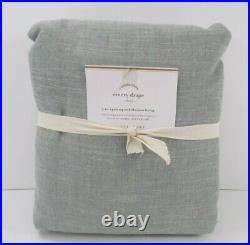 Pottery Barn Emery Linen Cotton Blackout Drape Curtain 100x 96 Blue Dawn #7314
