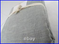 Pottery Barn Emery Linen Cotton Blackout Drape Curtain 100x 96 Blue Dawn #7315